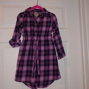 True Craft plaid shirt dress
